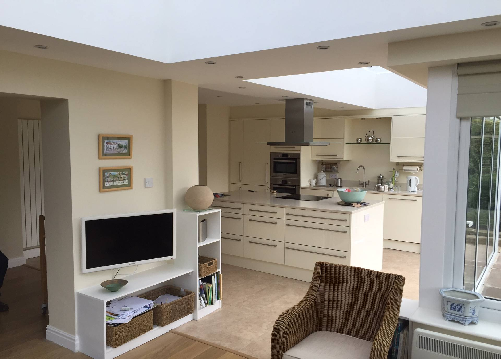 Kitchen Extension in Orangery - internal view 2