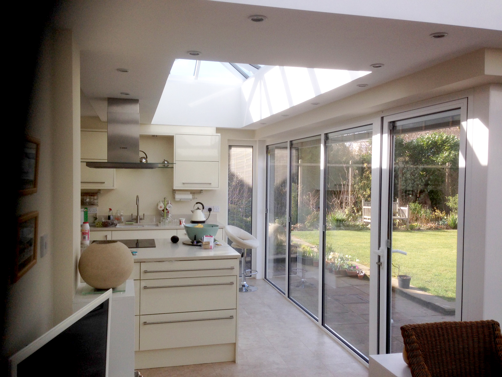 Kitchen Extension in Orangery - internal view 3
