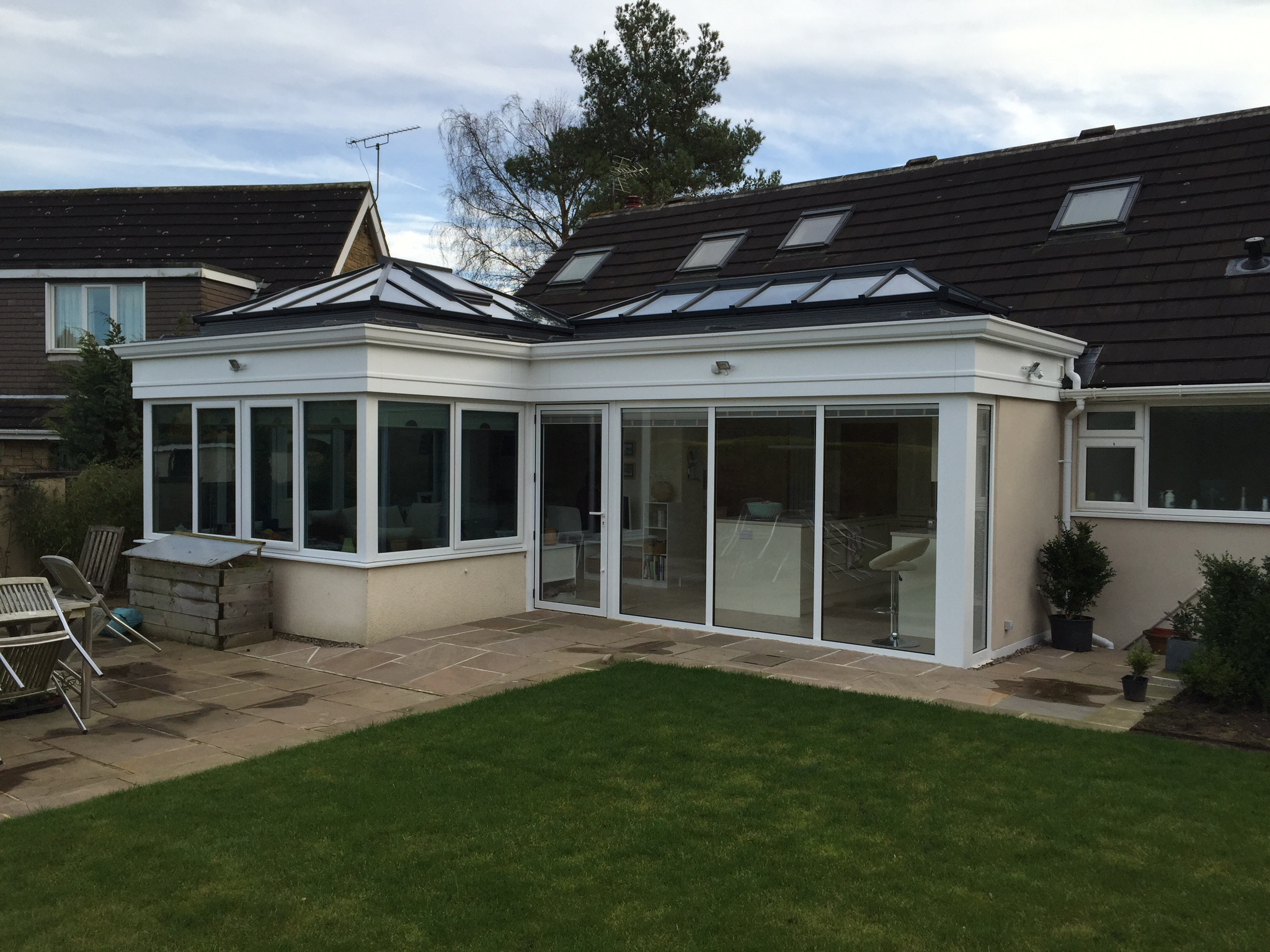 Kitchen Extension in Orangery - external view